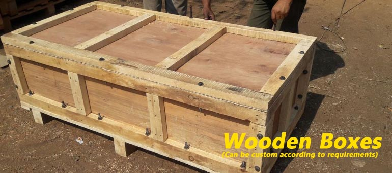 Wooden Crates With Lids